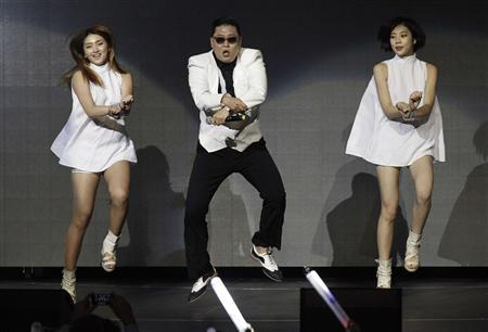 File photo of South Korean rapper Psy performing at KIIS FM's Jingle Ball concert in Los Angeles